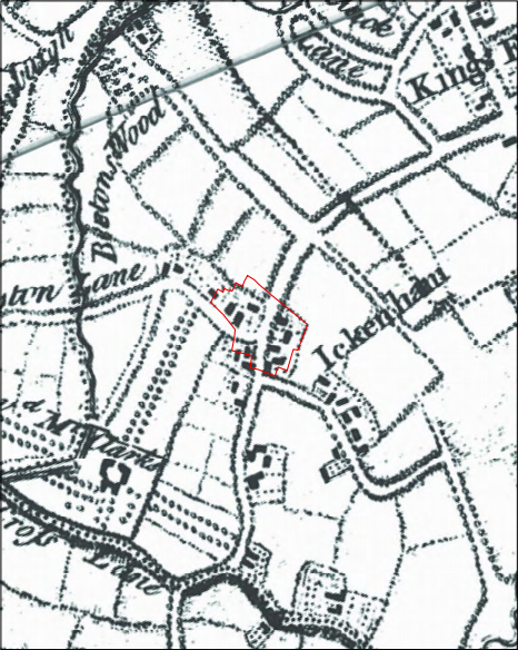 1754 Ickenham map